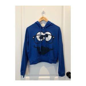 Cookie Monster Cropped Hoodie